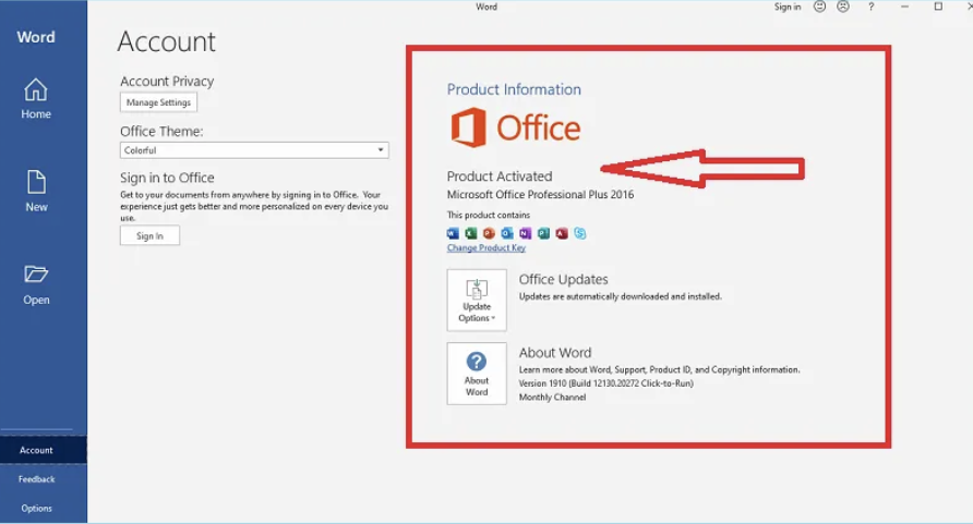 Activate Microsoft Office 2016 without Product Key Free
